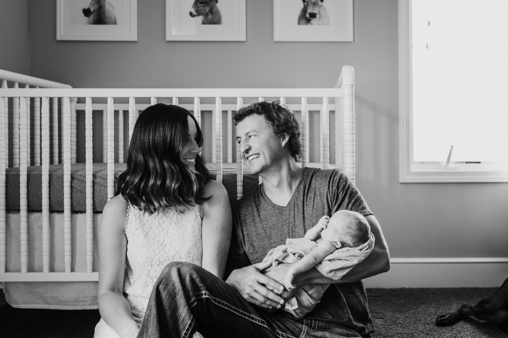 Lifestyle Newborn Session Olathe Kansas